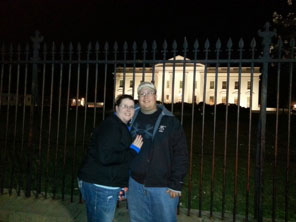 Kody and Ashley in front of the White House during Farm Bureau's Congressional Action Tour in Aprl